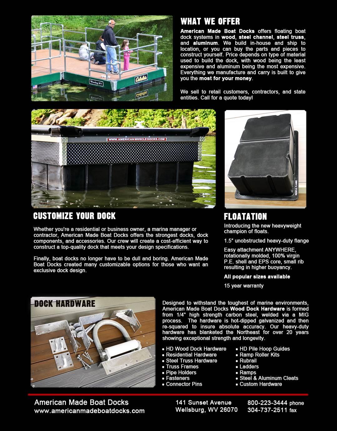 American Muscle Docks & Fabrication-Wellsburg-WV-26070